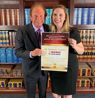 Back Pain Doctor Kim Trainor on Receives Award